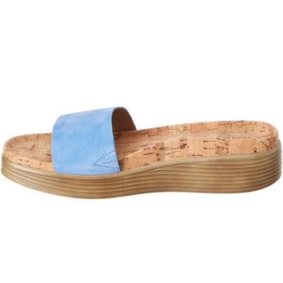 Donald J Pliner Fiji Blue Suede Cork
